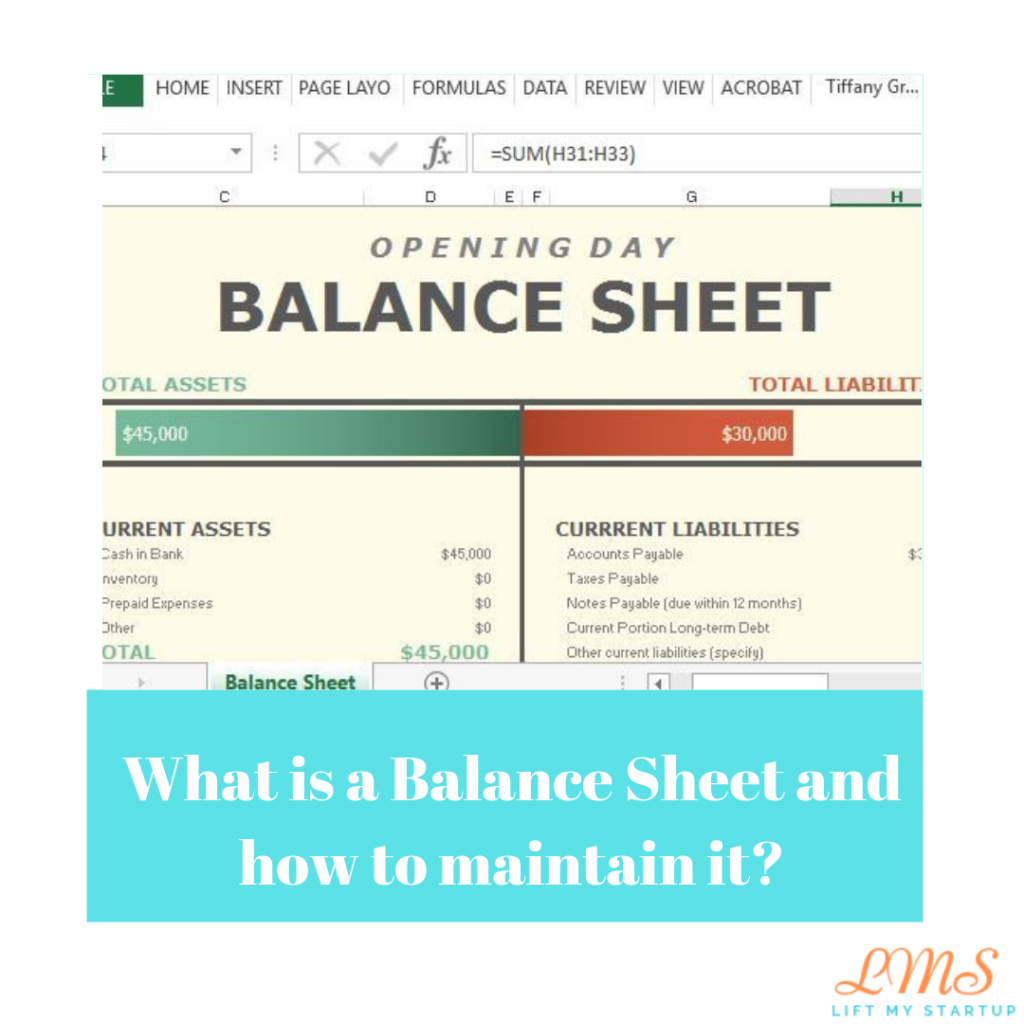 What is a Balance Sheet and how to maintain it?