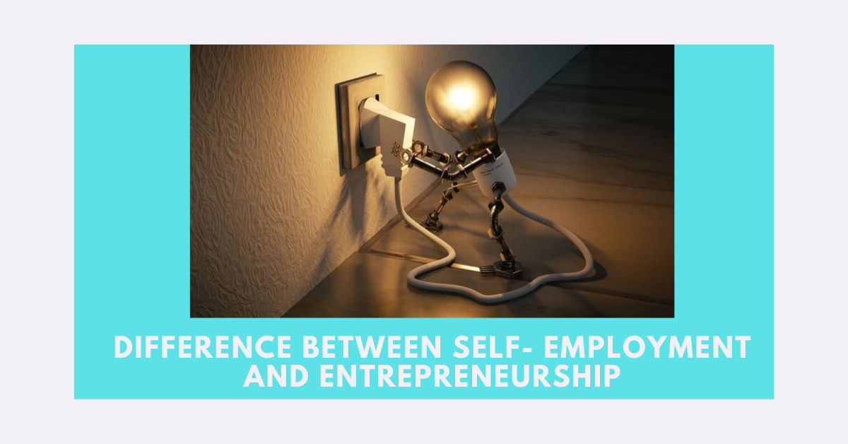 differentiate self-employment from entrepreneurship